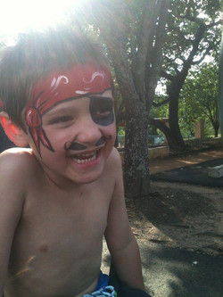 Happiest little pirate ever.