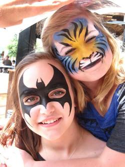 Bat girl and a tiger!