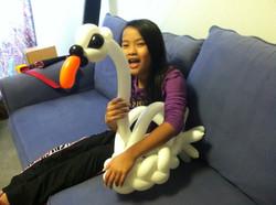Beautiful balloon swan