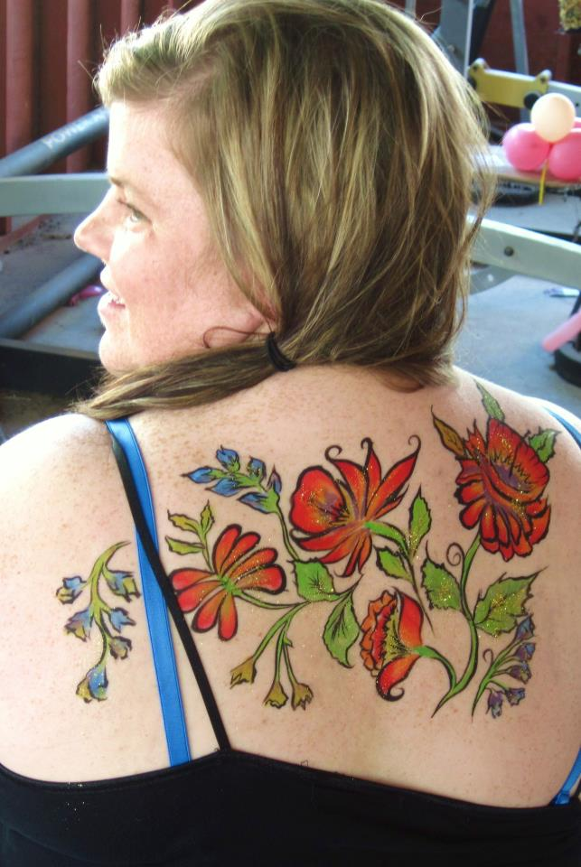 Flowers on her back:)