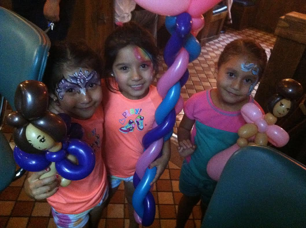 Face painting and balloons!