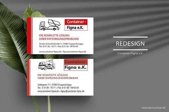 Grafikdesign Unikaat Hameln Redesign Visitenkarten Container Figna Annika Weddecke