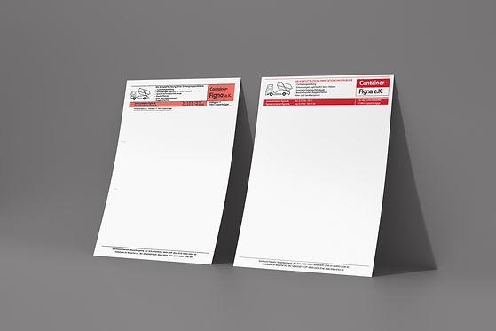 Grafikdesign Unikaat Hameln Redesign Briefbögen Container Figna Annika Weddecke