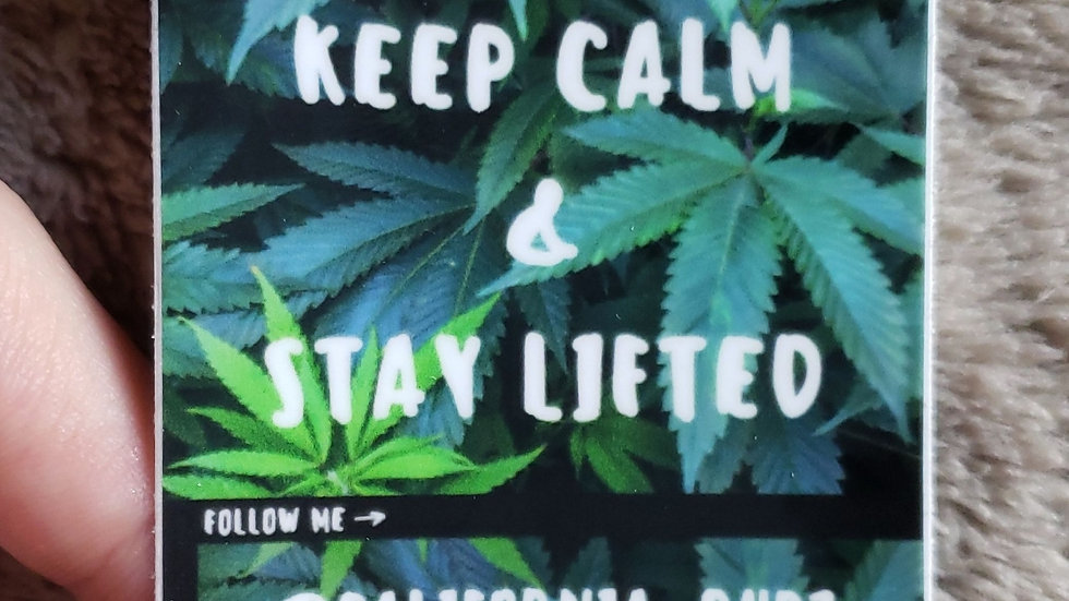 Keep Calm & Stay Lifted Sticker