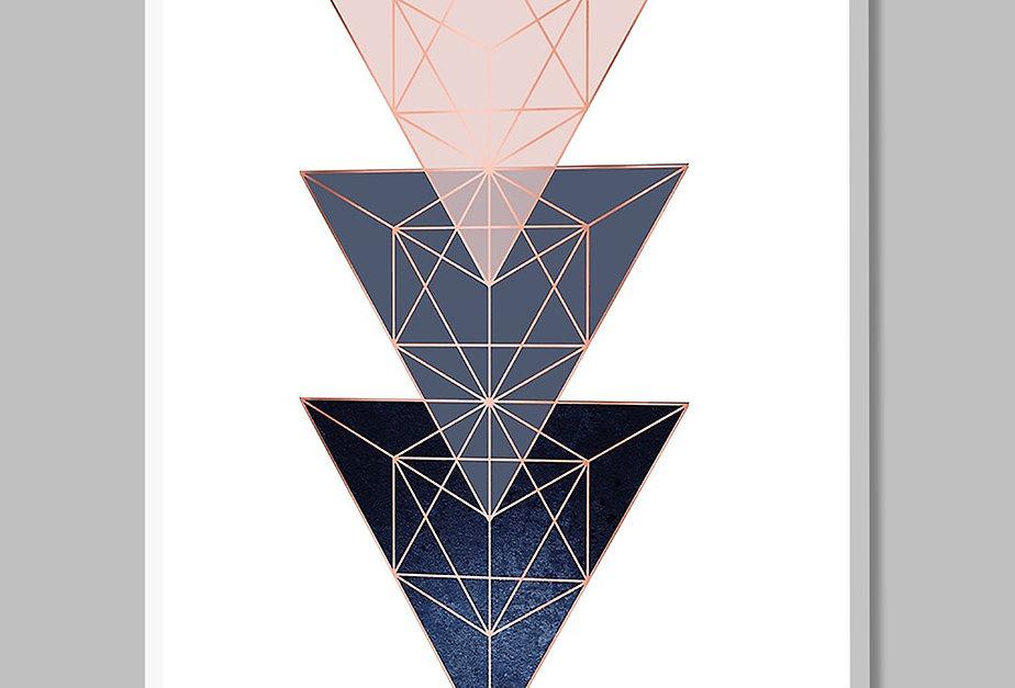 Placa Decorativa Personalizada Deserto Azul III