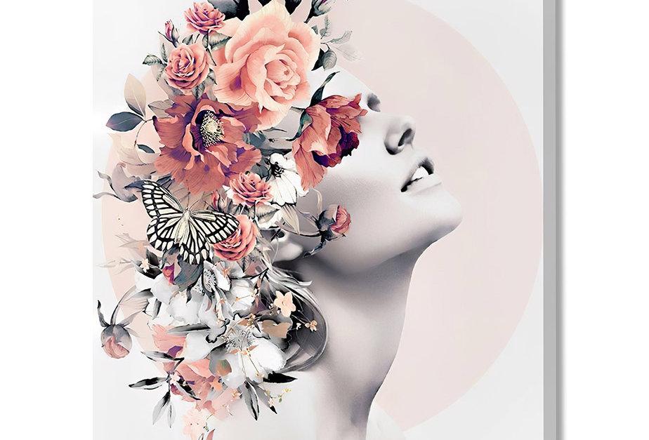Placa Decorativa Personalizada Flower Hair