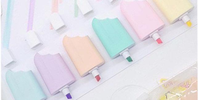 Marca Texto Picolé - 6 Cores Candy Colors