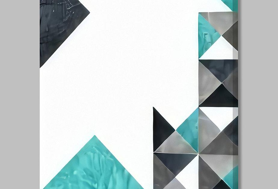 Placa Decorativa Personalizada Geométrica Cinza I