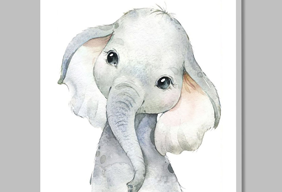Placa Decorativa Personalizada Elefantinho