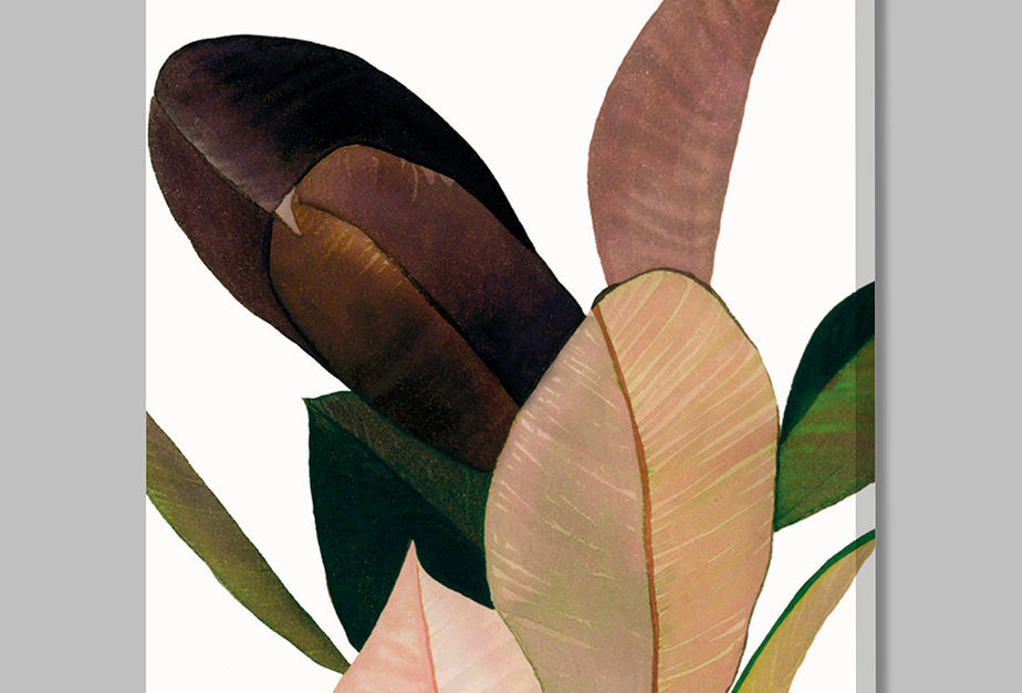 Placa Decorativa Personalizada Folhas Coloridas III