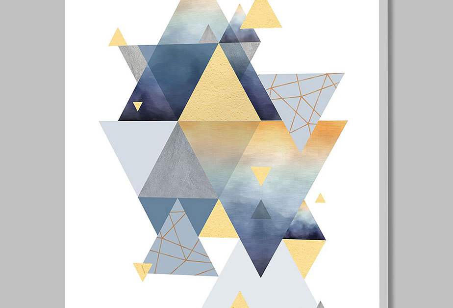 Placa Decorativa Personalizada Pirâmides