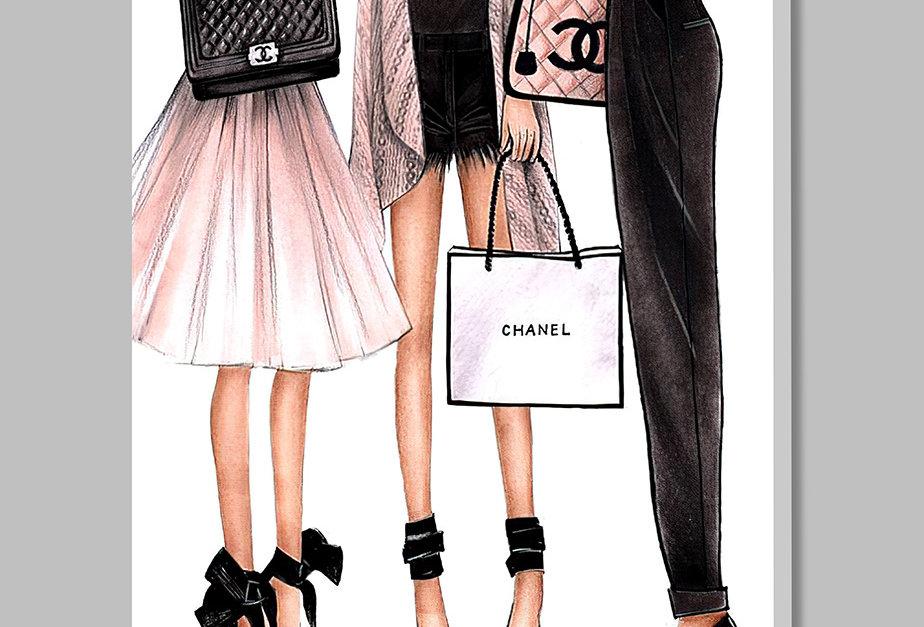 Placa Decorativa Personalizada Fashion Girls