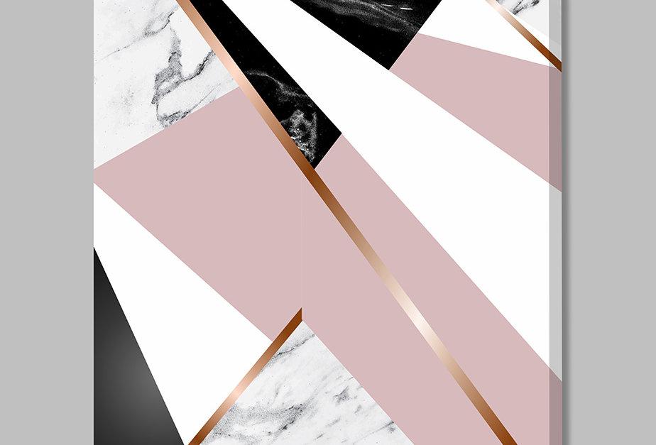 Placa Decorativa Personalizada Marmorizado Rosa III
