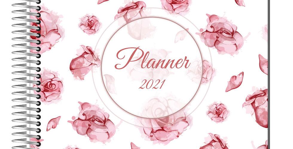 Planner Rosa - Capa Plastificada
