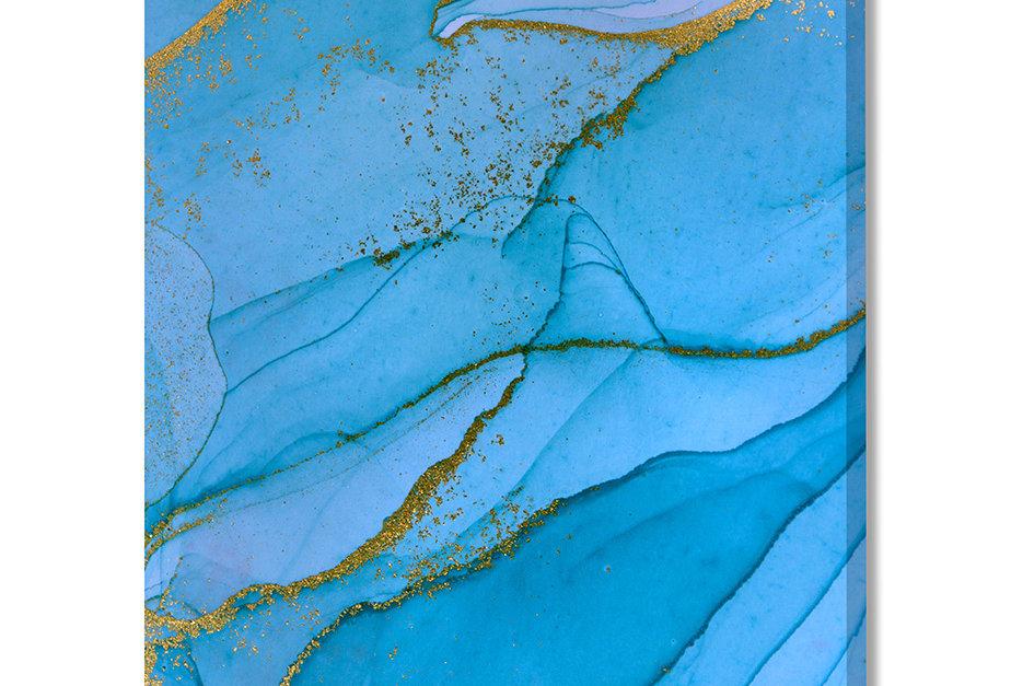 Placa Decorativa Personalizada Mármore Azul
