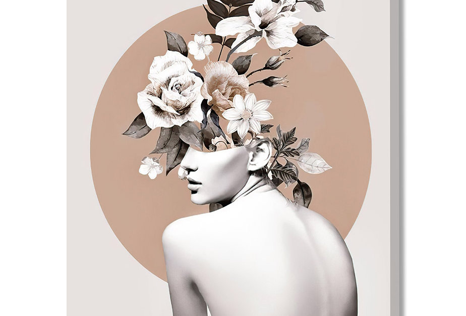 Placa Decorativa Personalizada Flower Hair 2