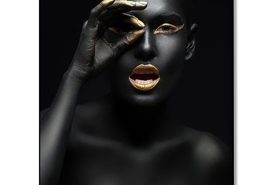 Placa Decorativa Personalizada Golden Beauty II