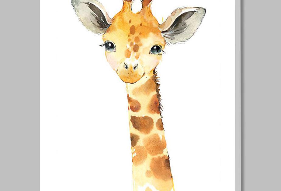 Placa Decorativa Personalizada Girafinha I