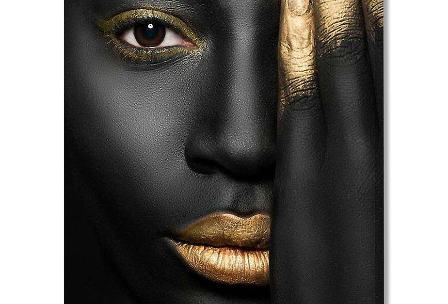 Placa Decorativa Personalizada Golden Beauty I