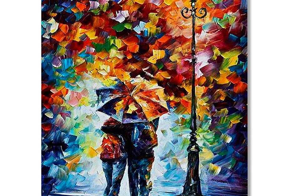 Placa Decorativa Personalizada Chuva Colorida
