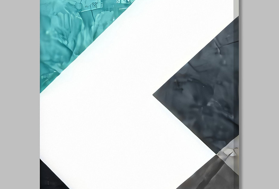 Placa Decorativa Personalizada Geométrica Cinza III