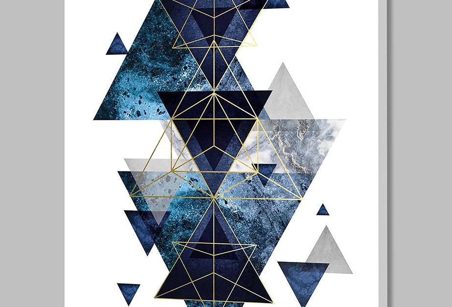 Placa Decorativa Personalizada Geométrica Azul II