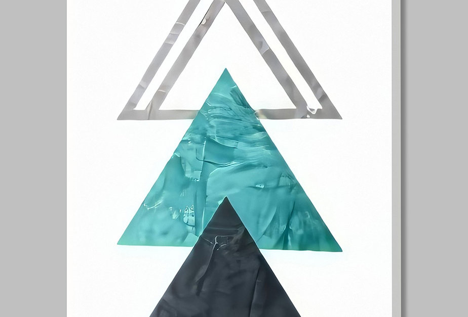 Placa Decorativa Personalizada Geométrica Cinza II