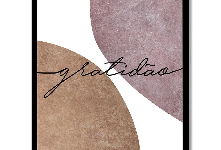 Placa Decorativa Personalizada Gratidão I