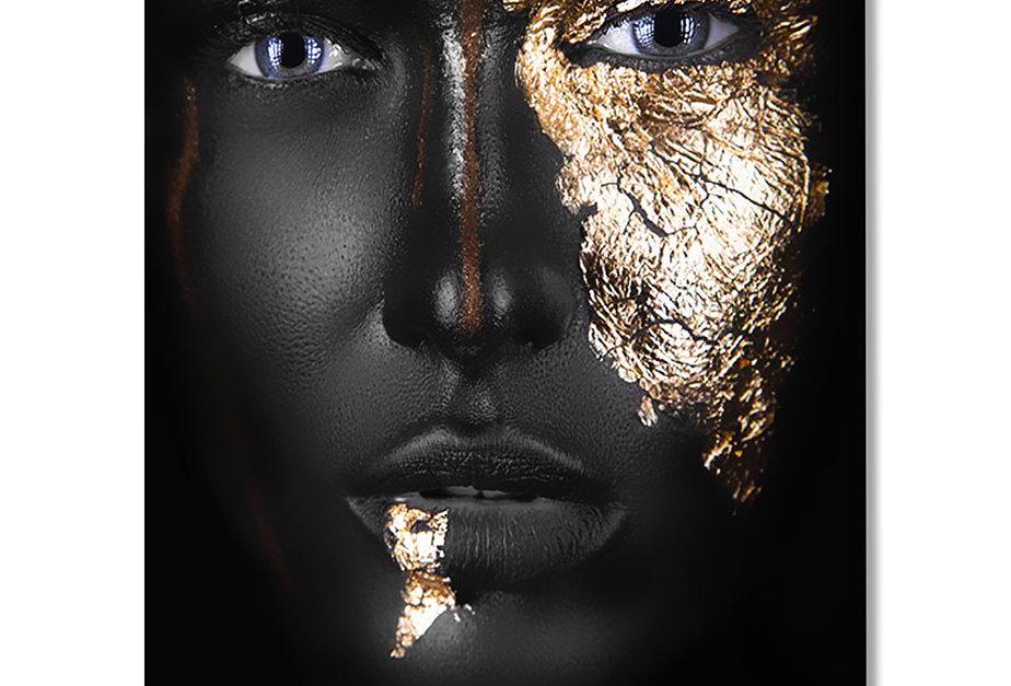 Placa Decorativa Personalizada Golden Beauty III