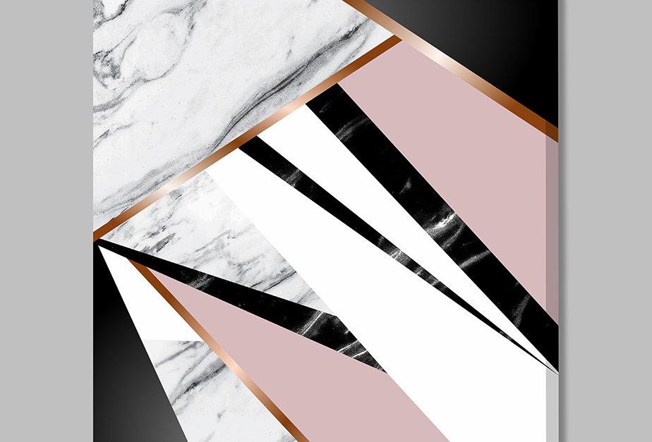 Placa Decorativa Personalizada Marmorizado Rosa I