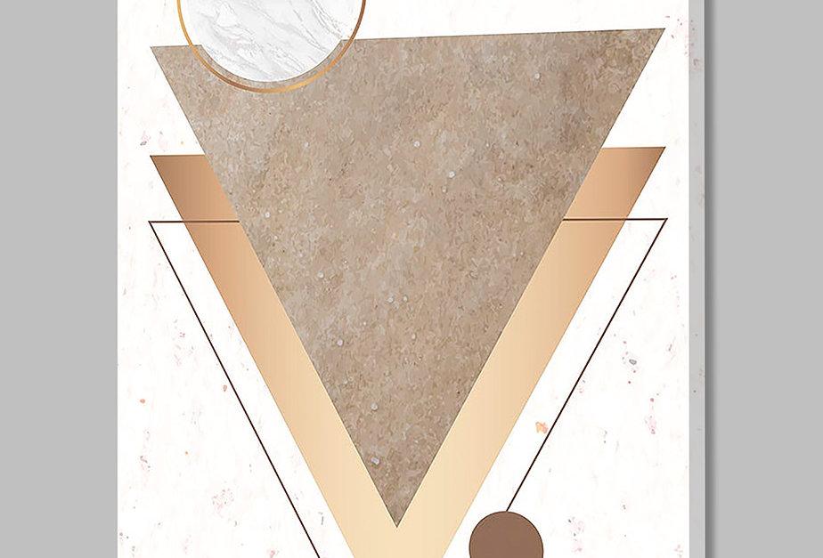 Placa Decorativa Personalizada Geométrica Nude