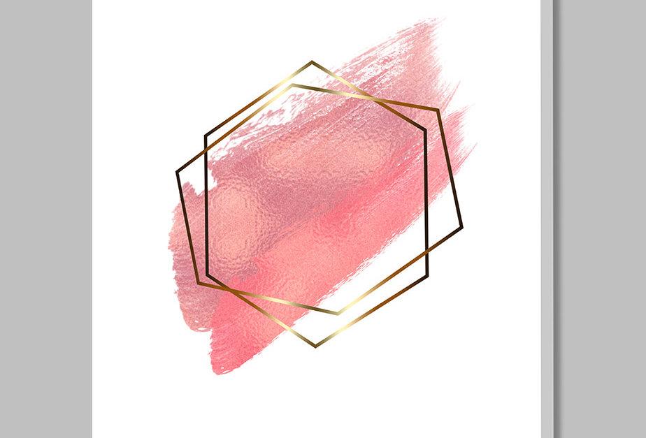 Placa Decorativa Personalizada Aquarela Rosa