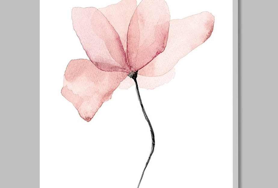Placa Decorativa Personalizada  Flor de Aquarela