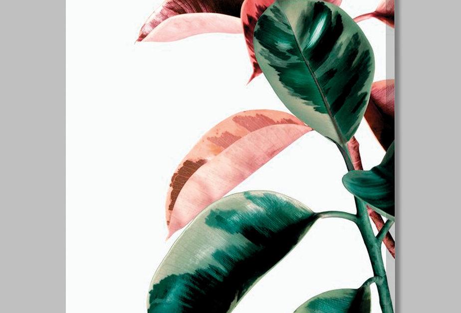 Placa Decorativa Personalizada Folhas Coloridas I