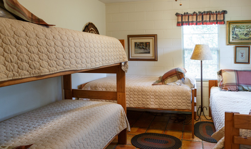 One of 3 bedrooms available for hunters in Llano, Texas.  Sleeps 4