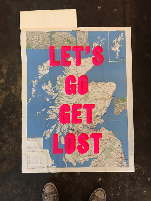 LET'S GO GET LOST - SCOTLAND - dark blue