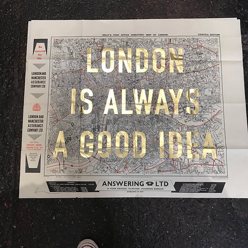 LONDON IS ALWAYS A GOOD IDEA - CENTRAL  gold leaf