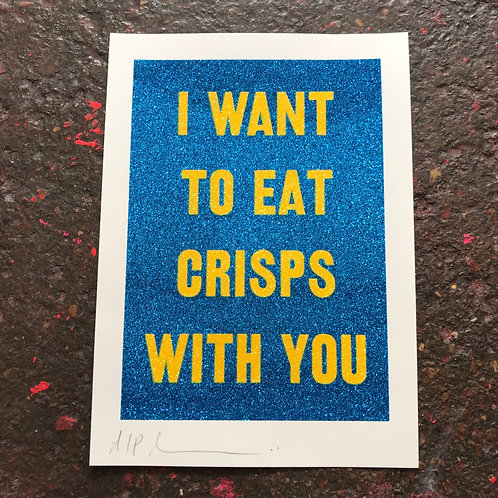 I WANT TO EAT CRISPS WITH YOU - CHEESE AND ONION