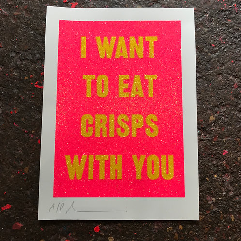 I WANT TO EAT CRISPS WITH YOU - PRAWN COCKTAIL