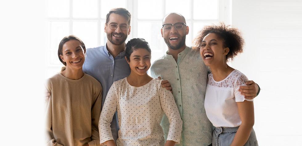 Diverse New York Church Family Members,