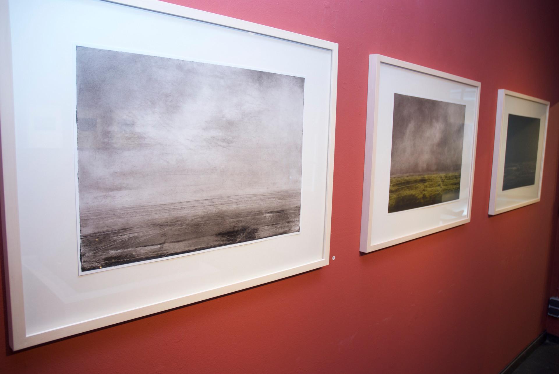 kunstverein artlantis, bad homburg, 3 bilder, ohne titel, öl auf papier, 59,5 x 42 cm