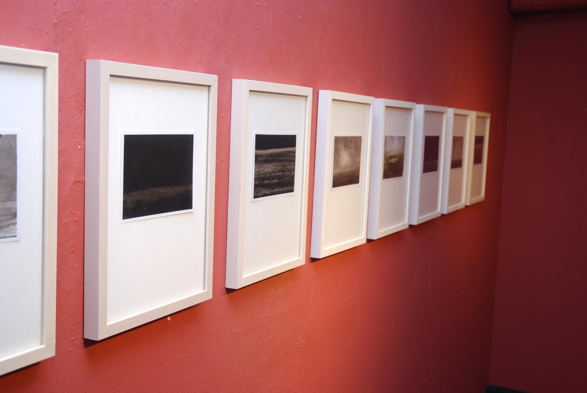 kunstverein artlantis bad homburg, 8 bilder, ohne titel, öl auf papier, 15 x 10