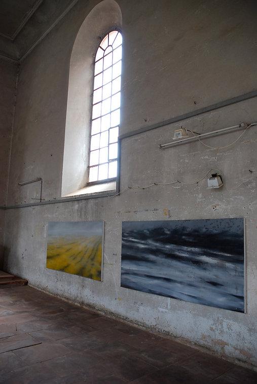 dorfkirche hausen frank krämer kunst malerei landschaft meer moderne kunst leere tiefe