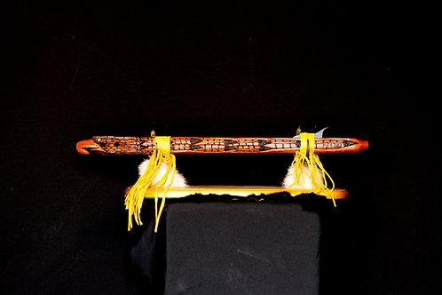 F# Red Cedar Hawk Flute  w/Antler stand