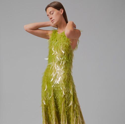Phillip Lim & Charlotte McCurdy seaweed sequin dress