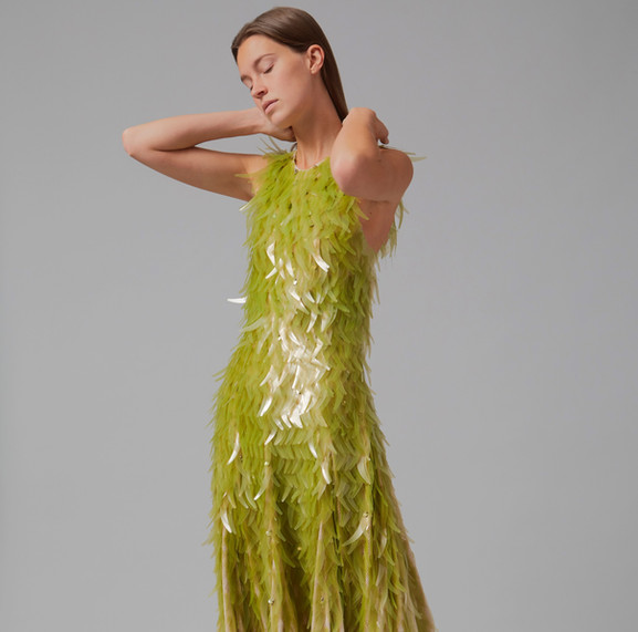 Phillip Lim & Charlotte McCurdy seaweed sequin dress