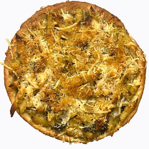Chicken Pesto Pasta Pie