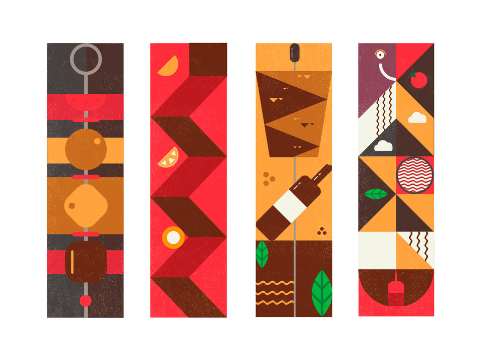 Food illustrations / Chaihona on wheels - Иллюстрация