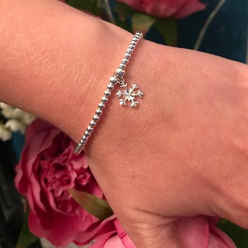 Snowflake Sterling Silver Charm Bracelet