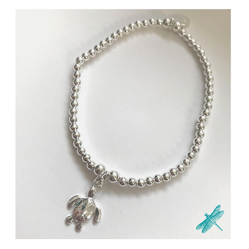 Turtle Sterling Silver Charm Bracelet